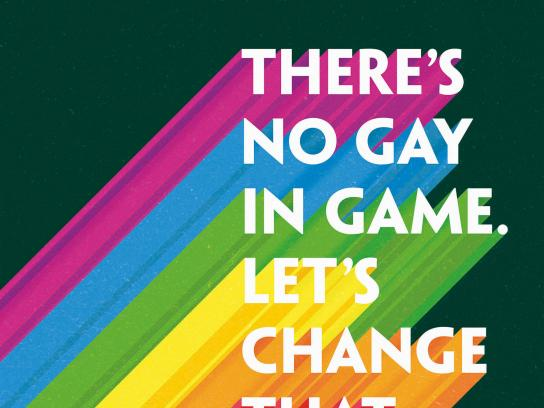 Paddy Power Print Ad - There's No Gay In Game