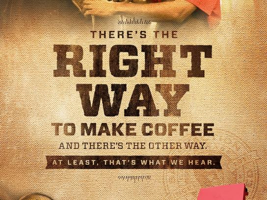 Community Coffee Print Ad -  The Right Way