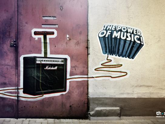 Thomann Print Ad -  The power of music, 2