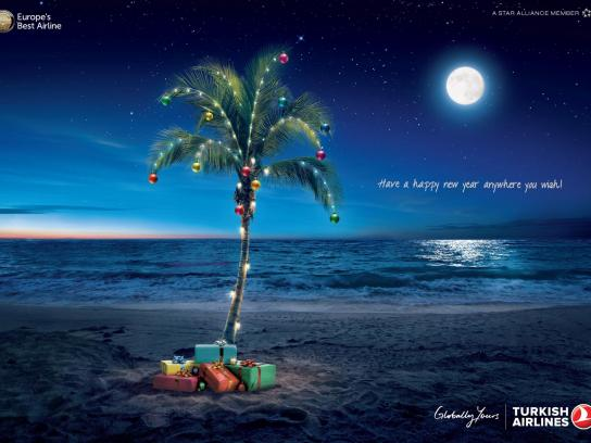 Turkish Airlines Print Ad -  Beach