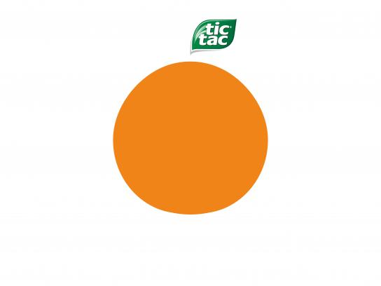 Tic Tac Print Ad - Orange