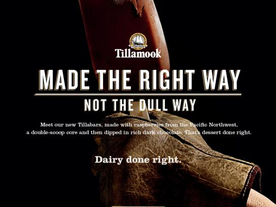 Tillamook Print Ad -  Not the dull way