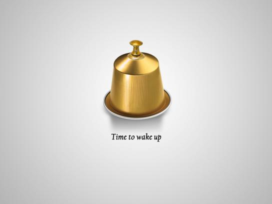 Nespresso Print Ad - Time to wake up