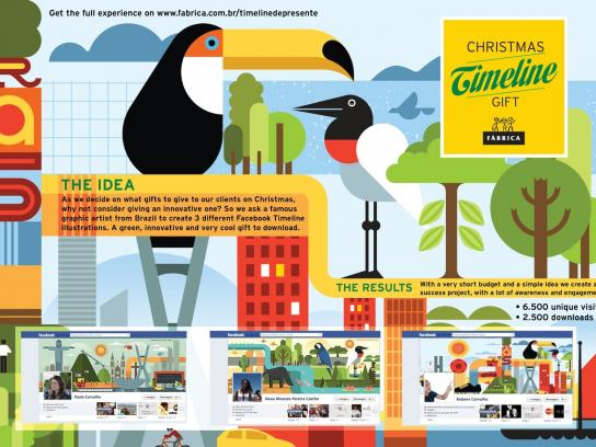 Fabrica Digital Ad -  Christmas timeline gift