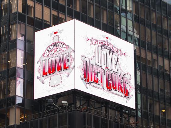 Diet Coke Outdoor Ad -  ReTweets of Love, 1