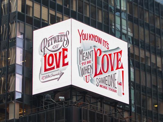 Diet Coke Outdoor Ad -  ReTweets of Love, 2