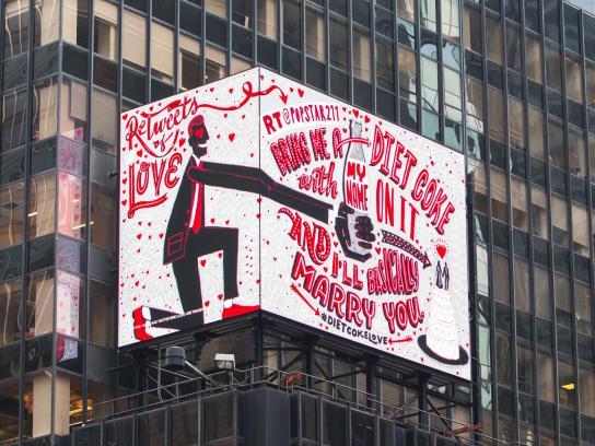 Diet Coke Outdoor Ad -  ReTweets of Love, 3