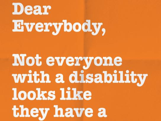 Holland Bloorview Kids Rehabilitation Outdoor Ad - Dear Everybody, 6