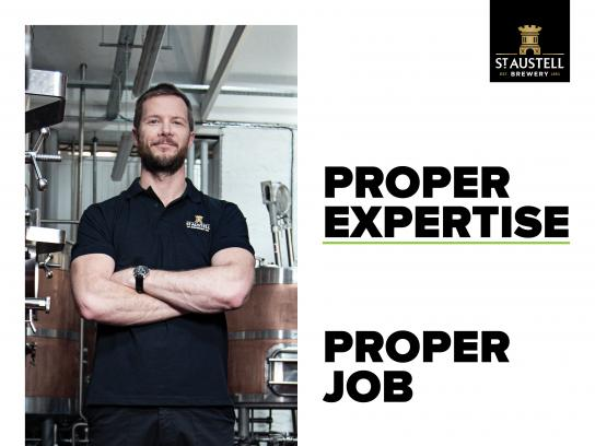 St Austell Brewery Design Ad - Proper Job