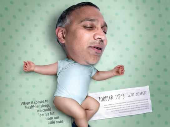 Monmouth Medical Center Print Ad - Toddler Tips Sleep Campaign, 3