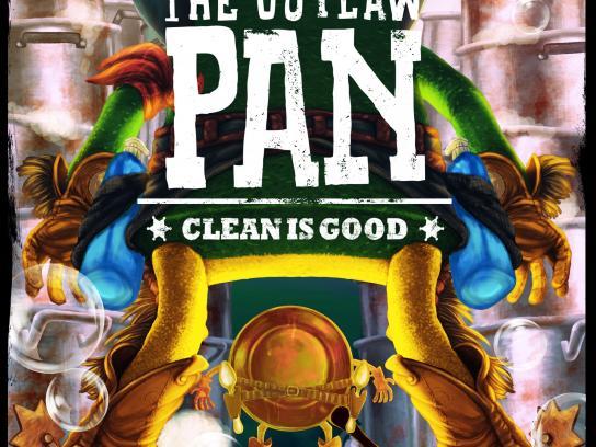 Todo Brillo Print Ad - The outlaw pan