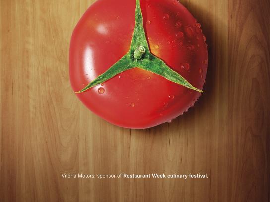 Mercedes Print Ad -  Tomato