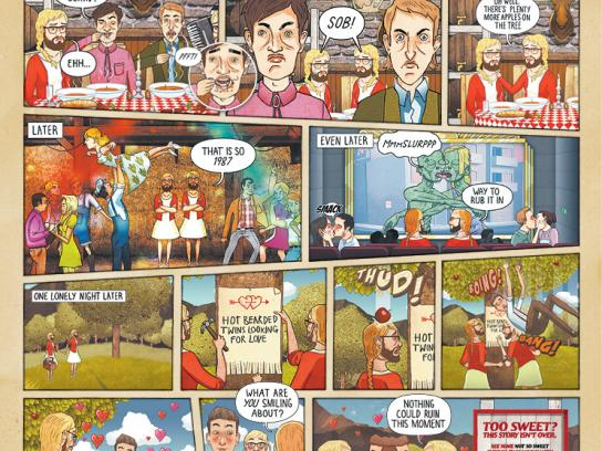 Tooheys Print Ad -  Comics