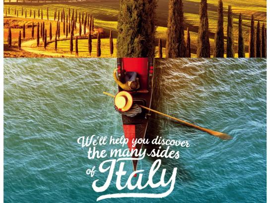 Topflight Print Ad - Many Sides of Italy