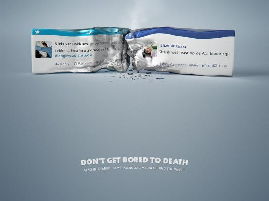 TopGear Print Ad -  Road Safety - Crash