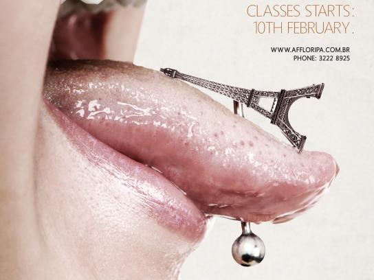 Aliança Francesa Print Ad -  Tongue