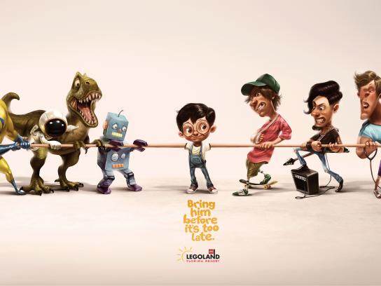 Legoland Print Ad - Tug of War, Boy