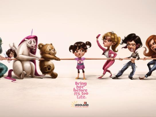 Legoland Print Ad - Tug of War, Girl