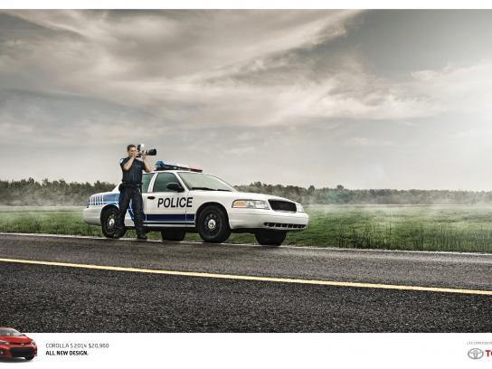 Toyota Print Ad -  Radar Gun