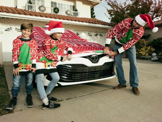 Toyota Direct Ad - The world's first Ugly Xmas Sweater for a car