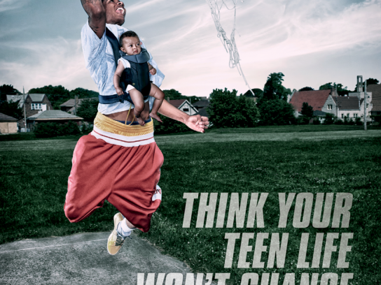 Adolescent Health Project Outdoor Ad - Basketball