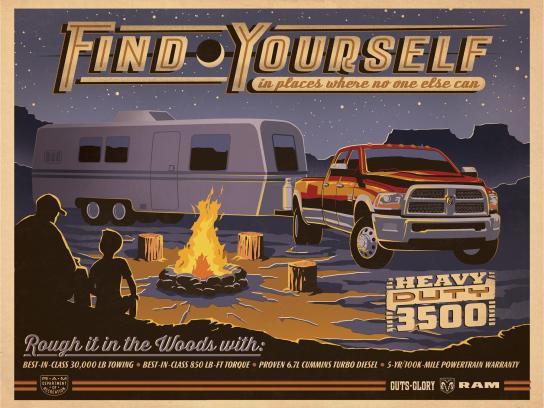 Dodge Print Ad -  Camping