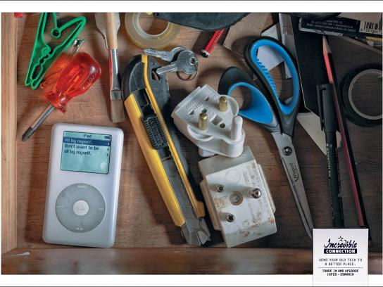Incredible Connection Print Ad -  iPod