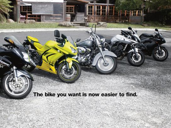 Trader Classifieds Print Ad -  Fluoro Bike