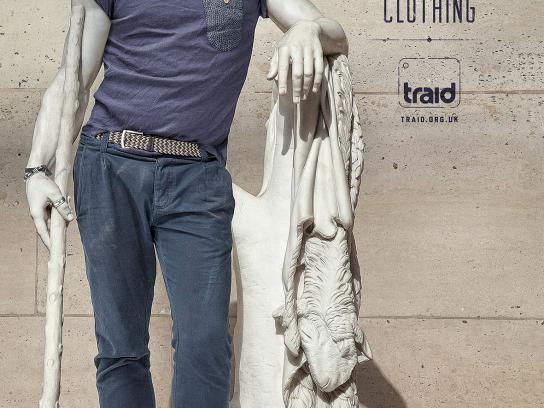 Traid Print Ad -  Vintage statue, 1