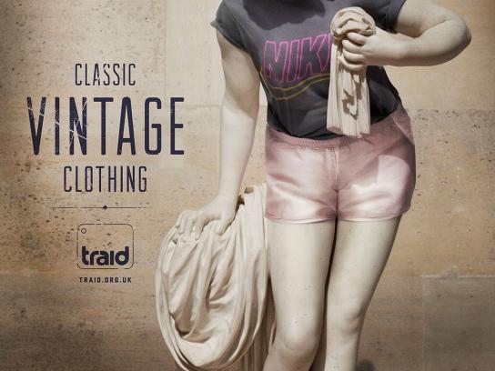 Traid Print Ad -  Vintage statue, 2
