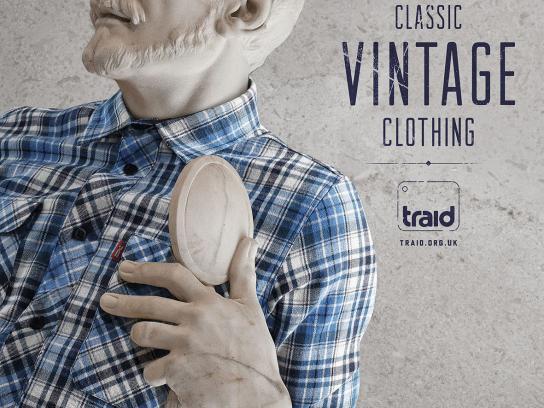 Traid Print Ad -  Vintage statue, 4