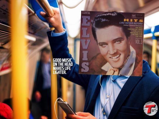 Transamerica Radio Station Print Ad - Elvis
