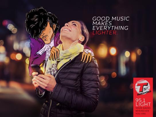 Transamerica Radio Station Print Ad - Prince