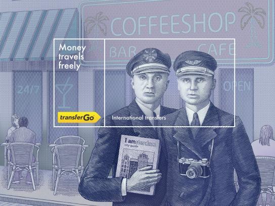 TransferGo Print Ad -  Tourists, 3