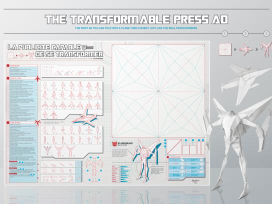 Transformers Print Ad -  The transformable press ad