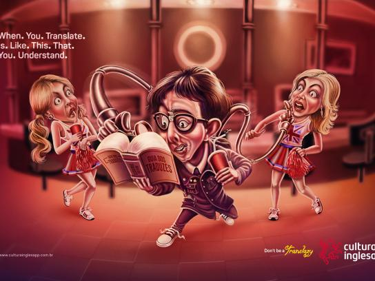 Cultura Inglesa Print Ad -  Don't be a Translazy, 2