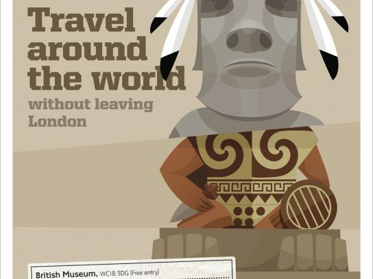 Transport for London Print Ad -  Travel around the world