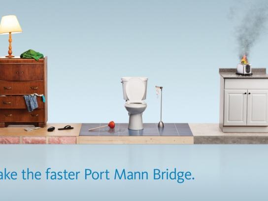 TReO Toll Bridge Outdoor Ad -  Dog