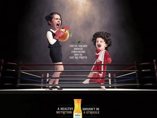 Tropicana Print Ad - Fighter