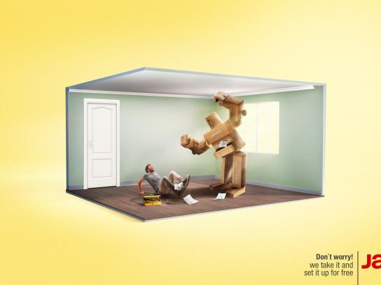 Muebles Jamar Print Ad - Don't worry!