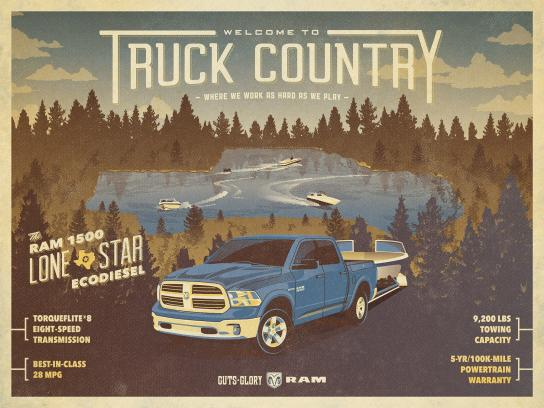 RAM Print Ad -  Truck Country - boating