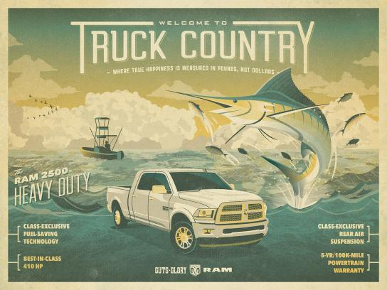 RAM Print Ad -  Truck Country - fishing