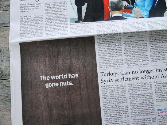 Al Rifai Print Ad - The world has gone nuts