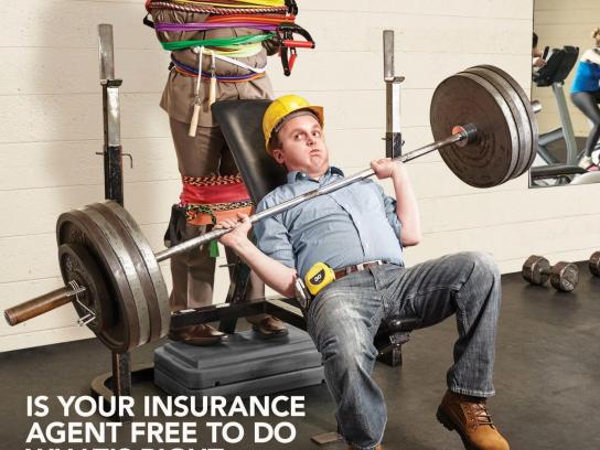 Trusted Choice Print Ad -  Risky Business - Heavy lifting