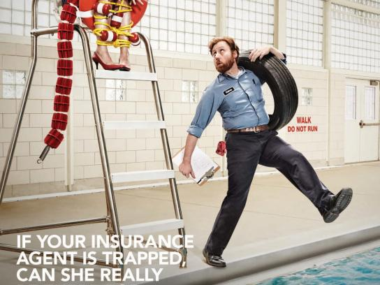 Trusted Choice Print Ad -  Risky Business - In deep