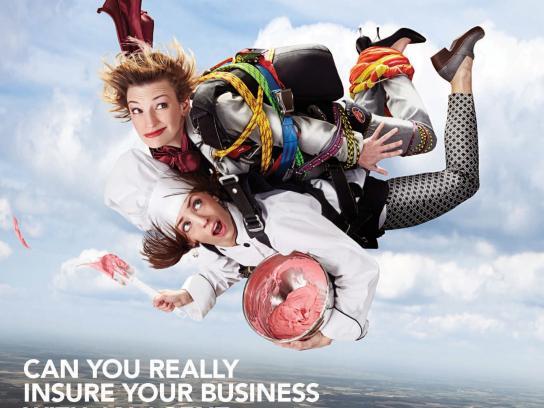 Trusted Choice Print Ad -  Risky Business - Leap of faith