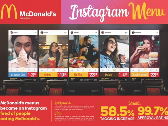 McDonald's Outdoor Ad - Instagram Menu