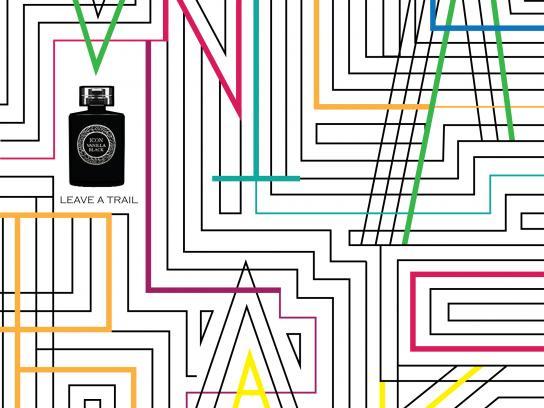 Icon Vanilla Black Print Ad - Leave a Trail