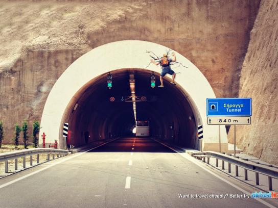 Airfasttickets Print Ad -  Tunnel