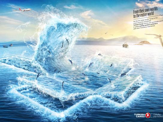 Turkish Cargo Print Ad - Fish